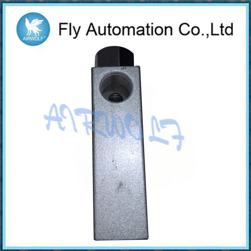 Aluminium Alloy Silver Pneumatic Manual Valve ZK Series 0-60℃ Fluid Temperature